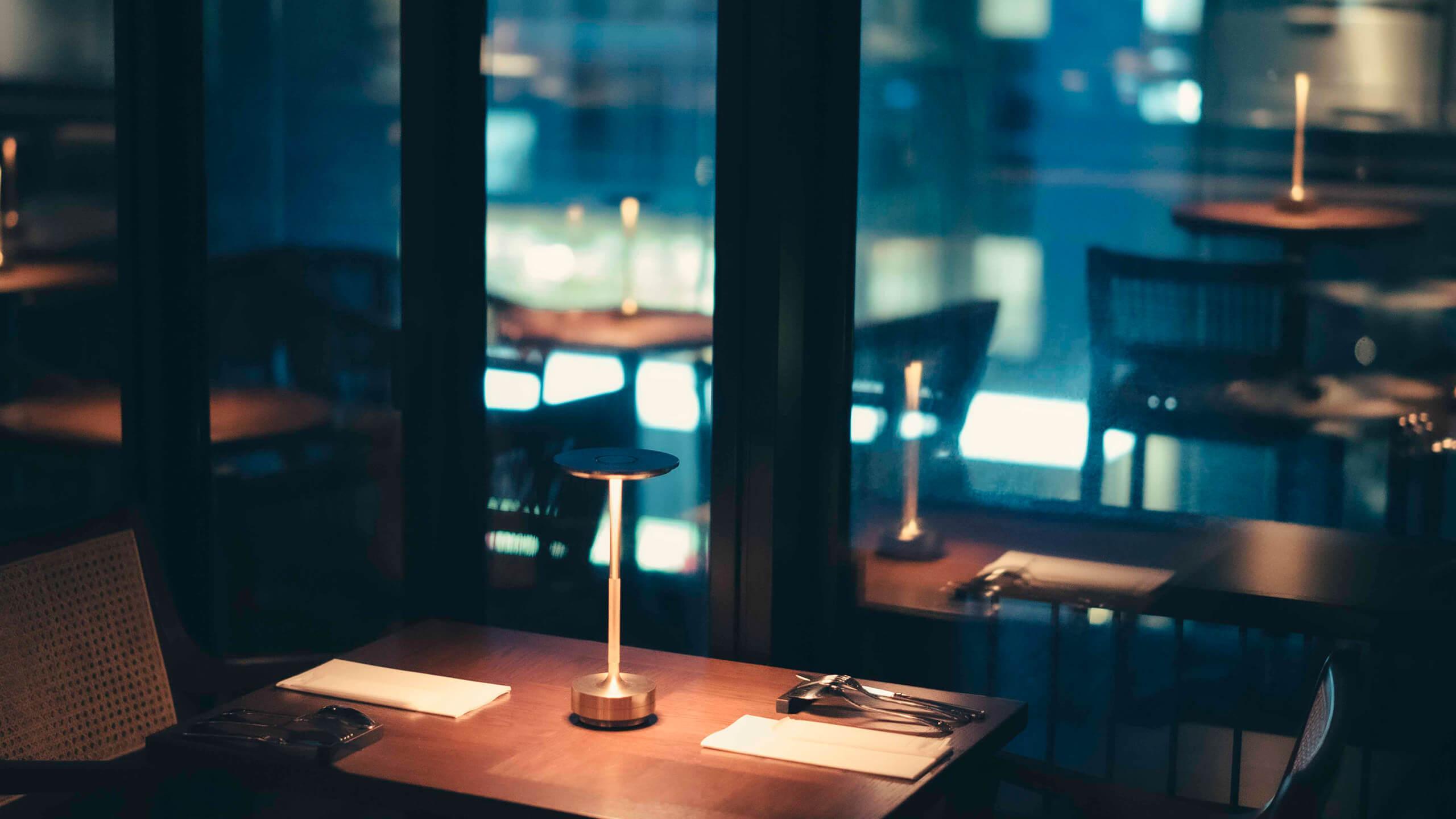 写真:レストランの内観