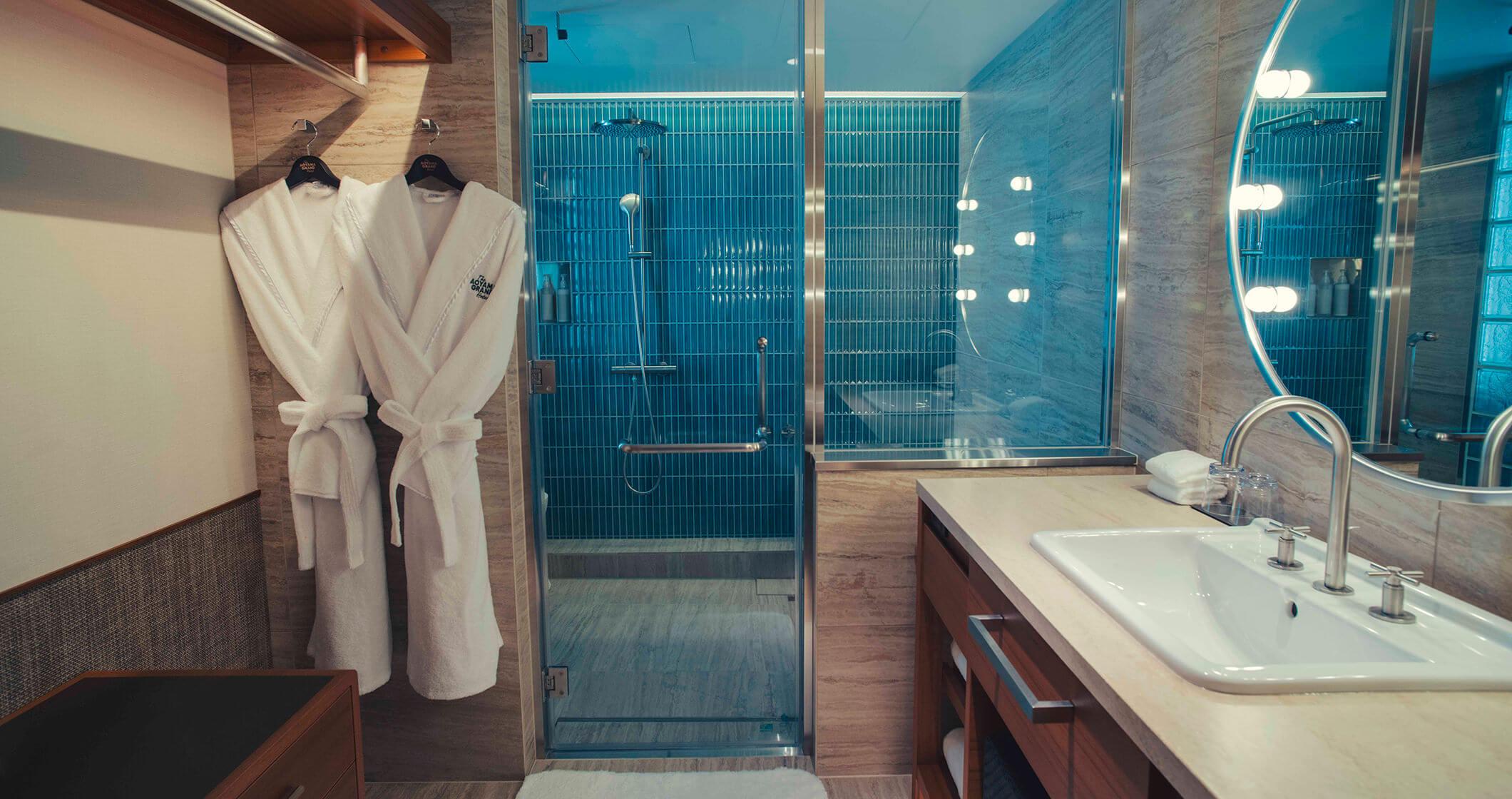 写真:スタンダードルームのシャワールーム