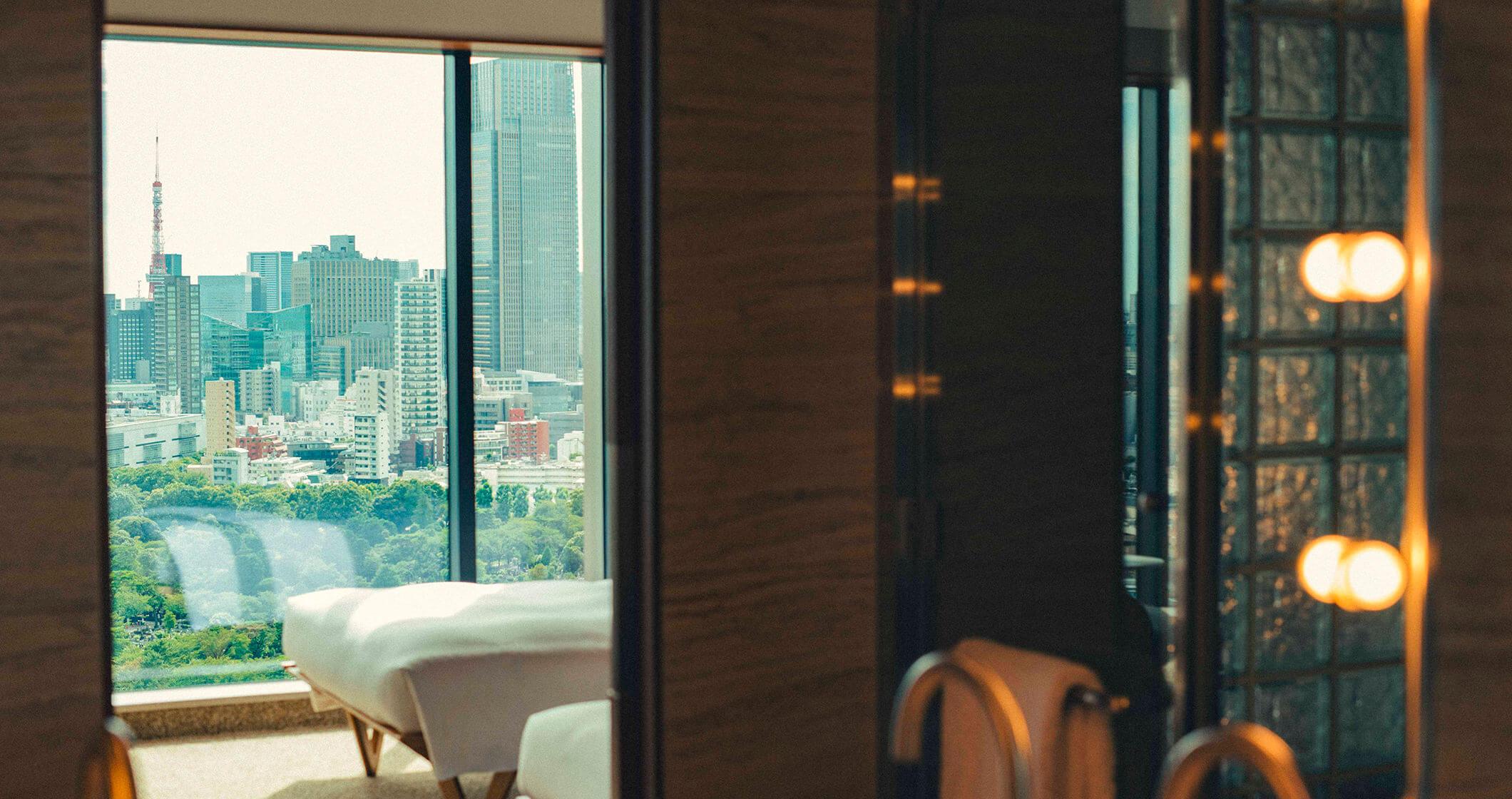 写真:スイートルームから見える景色