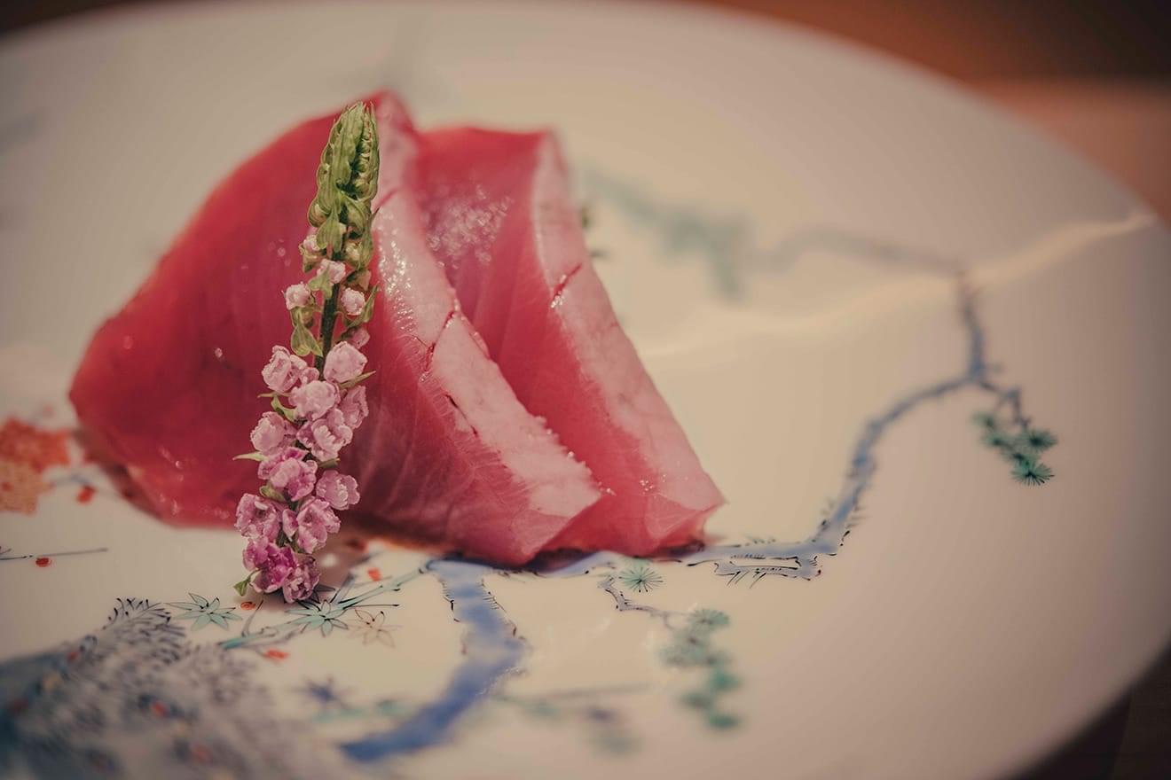 写真:青山 鮨 かねさか ディナー 刺身